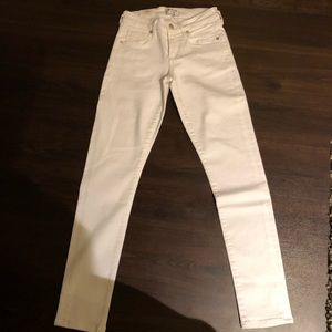 AGoldE white jeans. Brand new. Low rise skinny